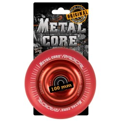 RRED100RED, Rueda de 100mm RADICAL fluorescent goma roja y nucleo rojo Metal Core