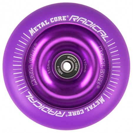RVI100VI, Rueda de 100mm RADICAL fluorescent goma violeta y nucleo violeta Metal Core