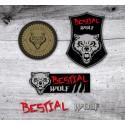 KIT-4 PEGATINAS BESTIAL WOLF