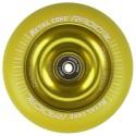 RYE110YE, Rueda de 110mm RADICAL fluorescent goma amarilla y nucleo amarilla Metal Core