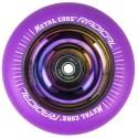 RVI100RW, Rueda de 100mm RADICAL fluorescent goma violeta y nucleo rainbow Metal Core