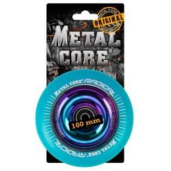 RBLUE100RW, Rueda de 100mm RADICAL fluorescent goma azul y nucleo rainbow Metal Core