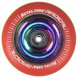 RGYR100RW, Rueda de 100mm RADICAL fluorescent goma rasta y nucleo rainbow Metal Core