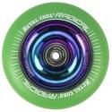 RGR110RW, Rueda de 110mm RADICAL fluorescent goma verde y nucleo rainbow Metal Core