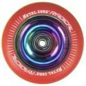 RGYR110RW, Rueda de 110mm RADICAL fluorescent goma rasta y nucleo rainbow Metal Core