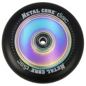 DISC100BL, Rueda DISC de 100mm goma negra y nucleo disco rainbow Metal Core