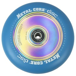 DISC100BLUE, Rueda DISC de 100mm goma azul y nucleo disco rainbow Metal Core