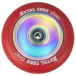 DISC100RED, Rueda DISC de 100mm goma roja y nucleo disco rainbow Metal Core