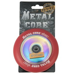 DISC100RED, Rueda DISC de 100mm  goma roja y nucleo disco rainbow Metal Core