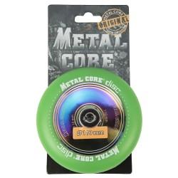DISC100GR, Rueda DISC de 100mm  goma verde y nucleo disco rainbow Metal Core