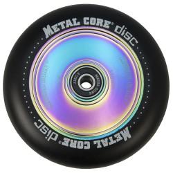 DISC110BL, Rueda DISC de 110mm goma negra y nucleo disco rainbow Metal Core