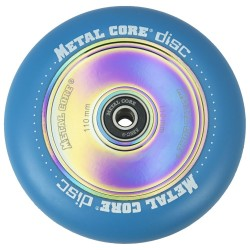 DISC110BLUE, Rueda DISC de 110mm goma azul y nucleo disco rainbow Metal Core