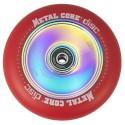 DISC110RED, Rueda DISC de 110mm goma roja y nucleo disco rainbow Metal Core