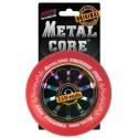 TRED110RWF3, Rueda THUNDER FLUOR de 110mm goma roja y nucleo rainbow Metal core