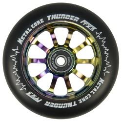 TBLACKI110RWF3, Rueda THUNDER FLUOR de 110mm goma negra y nucleo rainbow Metal core