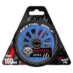 Ruedas de plástico Bestial Wolf PILOT goma negra y núcleo azul
