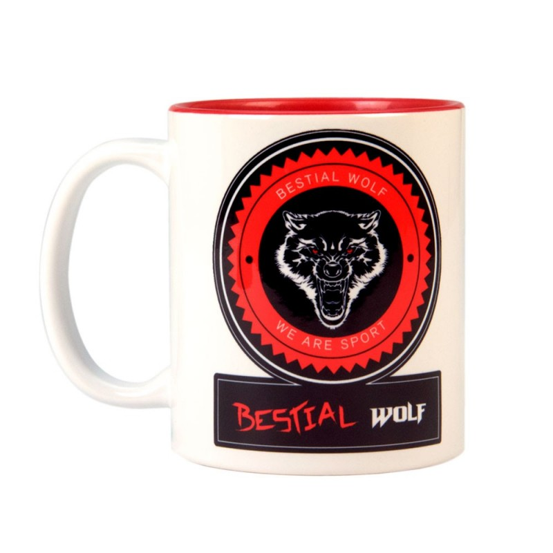 Taza de desayuno individual con asa Bestial Wolf CUP20.