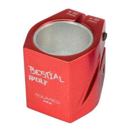 Squared1410 Clamp Rojo, 32-35 mm, 2 tornillos