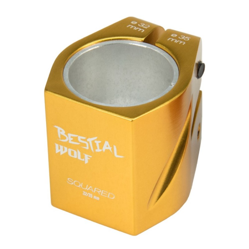 Squaredgold Clamp Dorado, 32-35 mm, 2 tornillos