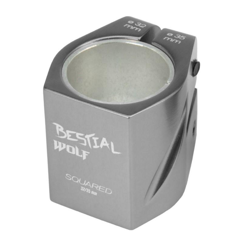 Squaredraw Clamp Plateado, 32-35 mm, 2 tornillos