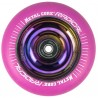 RPINK100RW, Rueda de 100mm RADICAL fluorescente, goma rosa y núcleo rainbow Metal Core