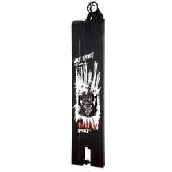 Wolfstreet59bl, Tabla de Street Cuadrada de Bestial Wolf, en color negro