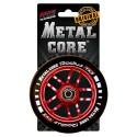 Rueda Metal Core RADIUS110RED, goma negra y núcleo rojo