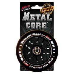 Rueda Metal Core RADIUS120BL, goma y núcleo negro
