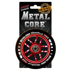 Rueda Metal Core RADIUS120RED, goma negra y núcleo rojo