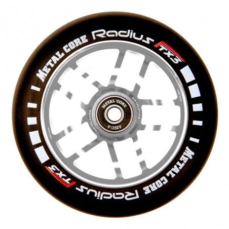 Rueda Metal Core RADIUS120SILVER, goma negra y núcleo plateado