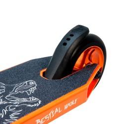 BOOSTER B16 Scooter Pro Manillar negro y Tabla naranja, de Bestial Wolf