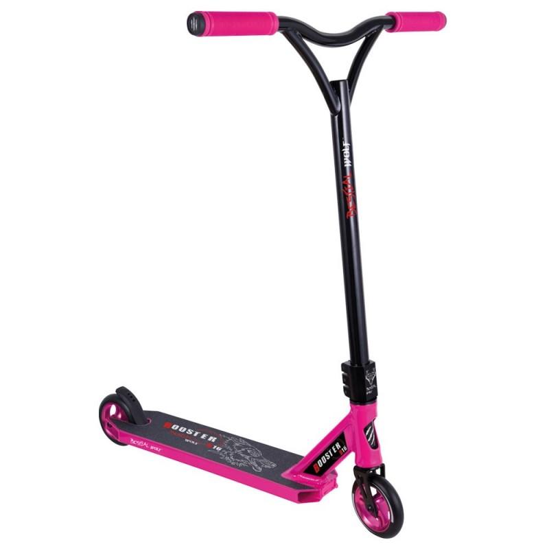 BOOSTER B16 Scooter Pro Manillar negro y Tabla rosa, de Bestial Wolf