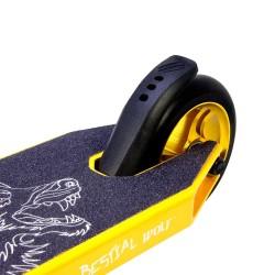 BOOSTER B16 Scooter Pro Manillar negro y Tabla amarilla, de Bestial Wolf