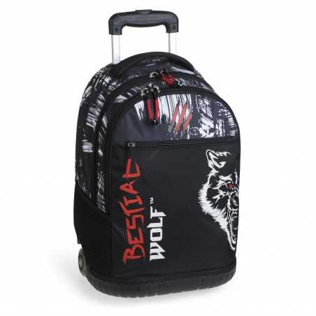 Mochila escolar doble con carro integrado BESTIAL WOLF 2019