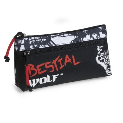 Estuche escolar doble BESTIAL WOLF 2018