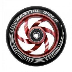 Rueda de aluminio Bestial Wolf TWISTER  goma negra núcleo Rojo