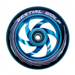 Rueda de aluminio Bestial Wolf TWISTER  goma negra núcleo azul