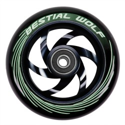Rueda de aluminio Bestial Wolf TWISTER  goma negra núcleo Negro