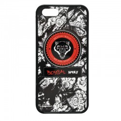 Iphone-4 (2D) Carcasa Goma diseño Bestial Wolf