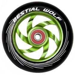 Rueda de aluminio Bestial Wolf TWISTER  goma negra núcleo verde