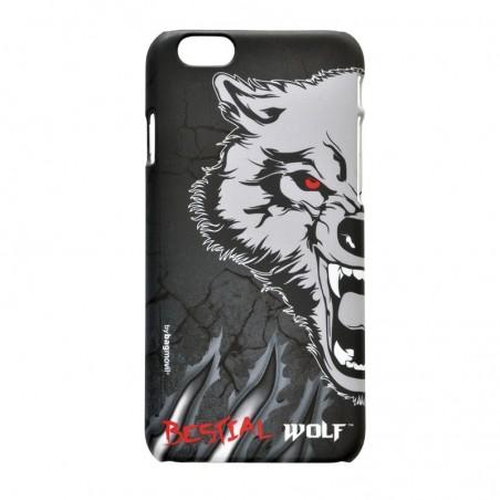 Iphone-6 y 6S (3D) Carcasa rigida diseño Bestial Wolf