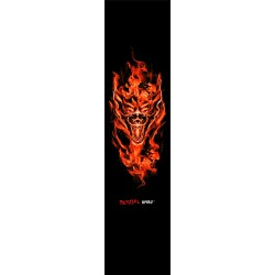 ref. GRIPTAPE52 Lija personalizada Bestial Wolf para scooter con diseño Lobo con Fuego