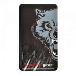 Batería Externa 4000mAh Diseño Lobo Grande Bestial Wolf