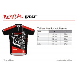 MAILLOT CICLISMO BESTIAL WOLF