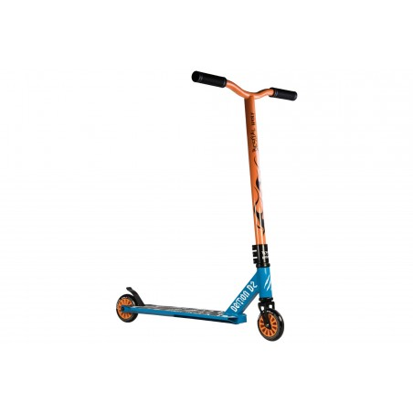 Scooter Pro DEMON D2 manillar naranja y tabla azul