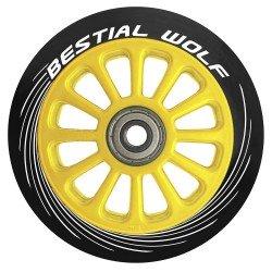 Ruedas de plástico Bestial Wolf PILOT goma negra y núcleo amarillo