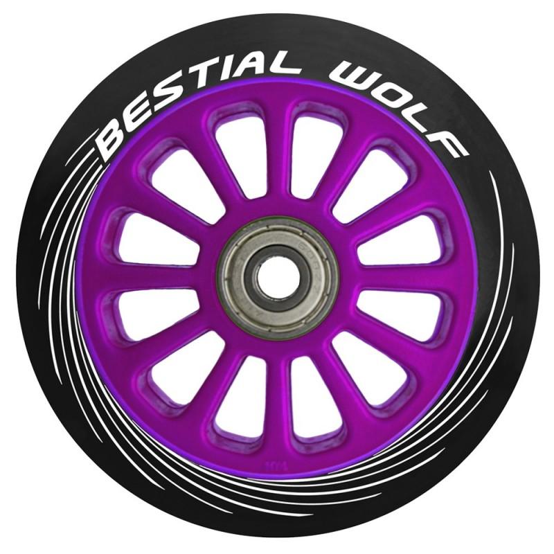 Ruedas de plástico Bestial Wolf PILOT goma negra y núcleo violeta