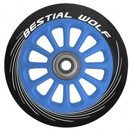 Rueda de plástico PILOT goma negro y núcleo azul 100mm Bestial Wolf