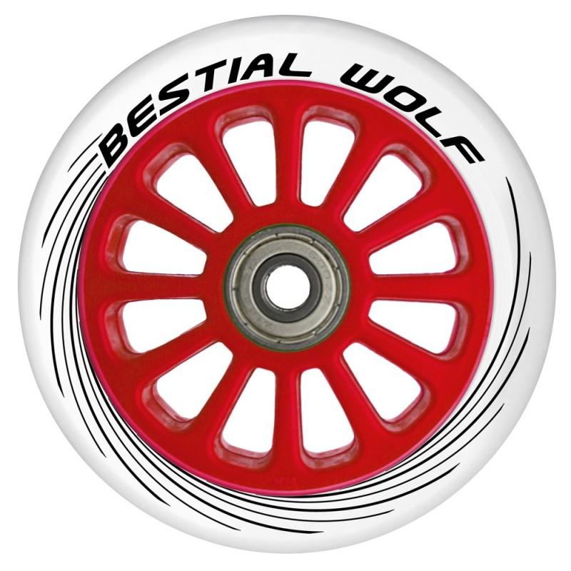 Ruedas de plástico Bestial Wolf PILOT goma blanca y núcleo rojo