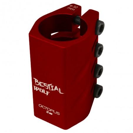 Clamp 4 tornillos rojo OCTOPUS 32mm Bestial Wolf